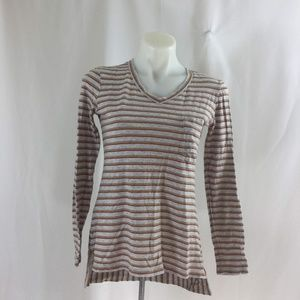 CAbi #3055 Skipper Tee Striped Hi-Low Shirt Top